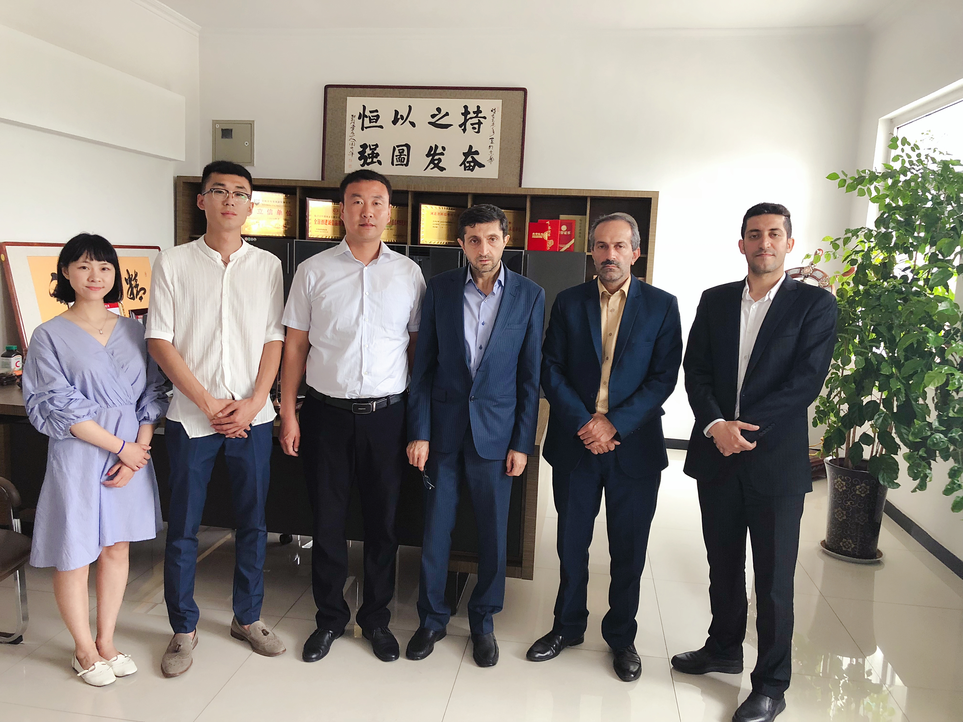 IRAN CUSTOMER VISITING OUR PRODUCTION LINE